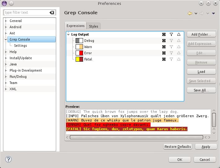 Grep Console - User Guide